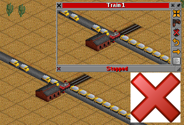 Blocking with a train